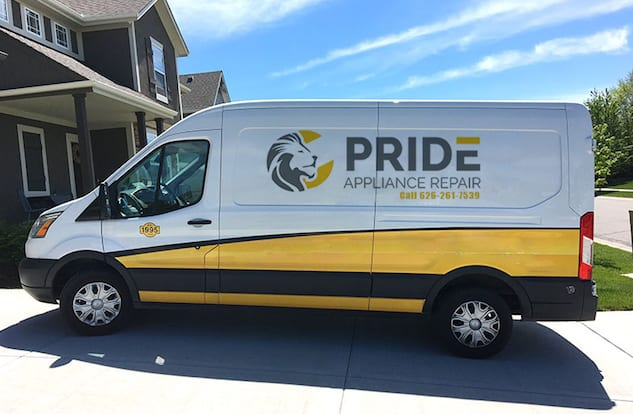 pride appliance repair van